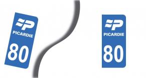 Stickers plaque d'immatriculation département de la somme (PARADISE Déco)