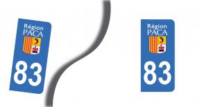 Stickers plaque d'immatriculation département du var (PARADISE Déco)