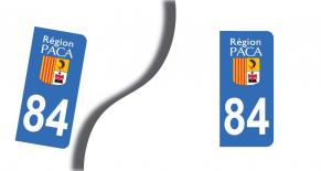 Stickers plaque d'immatriculation département du vaucluse (PARADISE Déco)