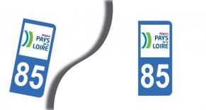 Stickers plaque d'immatriculation département de vendée (PARADISE Déco)