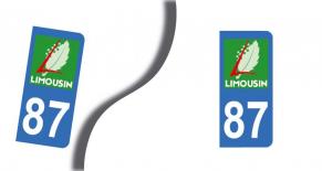 Stickers plaque d'immatriculation département de la haute vienne (PARADISE Déco)