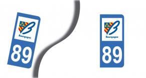 Stickers plaque d'immatriculation département de l'yonne (PARADISE Déco)