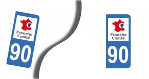 Stickers plaque d'immatriculation département du territoire de belfort (PARADISE Déco)