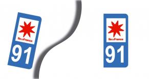 Stickers plaque d'immatriculation département de l'essonne (PARADISE Déco)