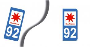 Stickers plaque d'immatriculation département de hauts de seine (PARADISE Déco)