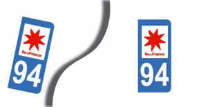 Stickers plaque d'immatriculation département du val de marne (PARADISE Déco)