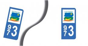Stickers plaque d'immatriculation département de guyane (PARADISE Déco)
