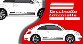 Stickers VW bandes laterales coccinelle (PARADISE Déco)