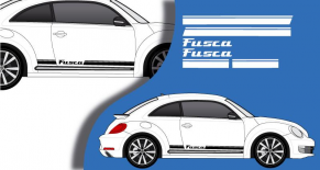 Stickers VW bandes laterales fusca (PARADISE Déco)