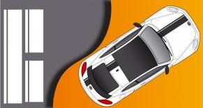 Stickers VW cox edition toit vitré (PARADISE Déco)