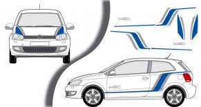 Stickers VW polo wrc 2 (PARADISE Déco)
