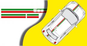 Stickers bande Fiat 500 italia (PARADISE Déco)