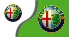 stickers logo rond alfa romeo couleur (PARADISE Déco)