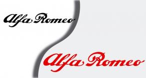 Stickers écriture Alfa Romeo (PARADISE Déco)