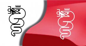 Stickers logo alfa romeo 5 (PARADISE Déco)