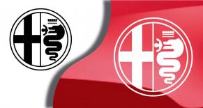 Stickers logo Alfa Romeo 6 (PARADISE Déco)
