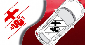Stickers logo de toit Alfa Romeo mito (PARADISE Déco)
