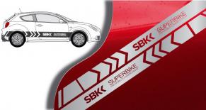 Stickers bandes latérales Mito SBK (PARADISE Déco)
