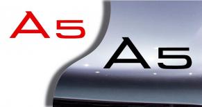 Stickers logo audi A5 (PARADISE Déco)