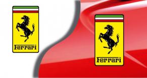 Stickers logo ferrari 3 (PARADISE Déco)