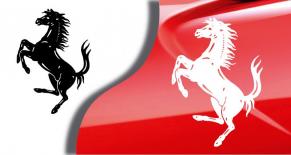 Stickers Ferrari cheval cabré (PARADISE Déco)