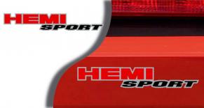 Stickers logo Dodge HEMI Sport (PARADISE Déco)
