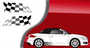 Stickers damier latéral Audi TT 2006 (PARADISE Déco)