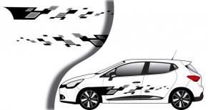 Stickers Renault Clio RS4 latéral racing (PARADISE Déco)