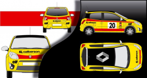 Stickers Renault twingo replica r5 calberson (PARADISE Déco)