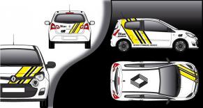 Stickers Renault Twingo Diac r5 replica (PARADISE Déco)