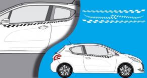 Stickers Peugeot 208 serie S lateral (PARADISE Déco)