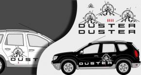 Stickers dacia Duster aventure (PARADISE Déco)