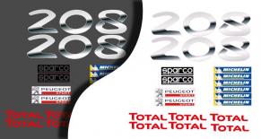 Stickers sponsors Peugeot 208 rallye (PARADISE Déco)