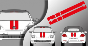 Stickers VW Cox RS cabriolet (PARADISE Déco)
