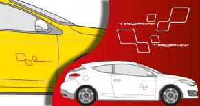 stickers Renault megane trophy (PARADISE Déco)