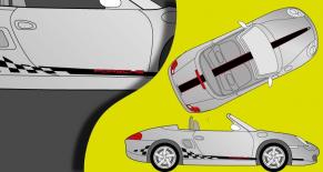 Stickers Porsche boxter race (PARADISE Déco)
