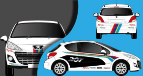 Stickers Peugeot 207 rallye (PARADISE Déco)