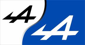 Stickers Alpine Renault 4 (PARADISE Déco)
