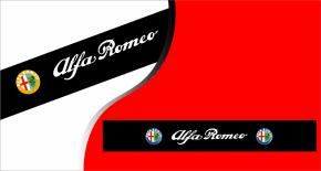 Stickers pare soleil logo alfa romeo (PARADISE Déco)