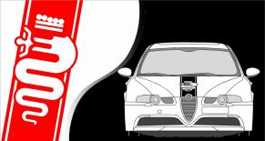 Stickers capot Alfa Romeo (PARADISE Déco)