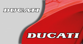 Stickers logo ducati 4 (PARADISE Déco)