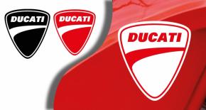 Stickers logo ducati 5 (PARADISE Déco)