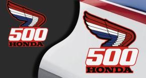 Stickers honda 500 (PARADISE Déco)