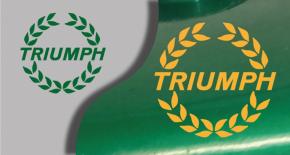Stickers logo triumph 4 (PARADISE Déco)