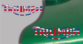 Stickers logo triumph 6 (PARADISE Déco)