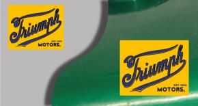 Stickers logo triumph 8 (PARADISE Déco)