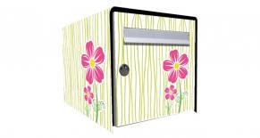 Stickers boite aux lettres fleur rose (PARADISE Déco)