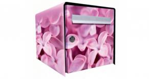 Stickers boite aux lettres fleur violette (PARADISE Déco)