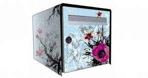 Stickers boite aux lettres orchidee (PARADISE Déco)