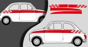 Stickers fiat 500 sport ancien modele (PARADISE Déco)